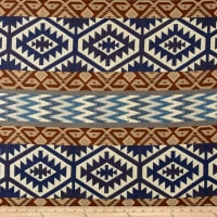 AMERICAN MADE Artistry Tribal Southwest Jacquard Chinle Indigo