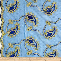 Coco Paisley Sequin Lace Royal Gold