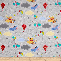 Disney Pooh Everyday Pooh With Dots Gray