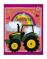 "John Deere Pink Peace, Love & Tractors 36"" Panel Multi"