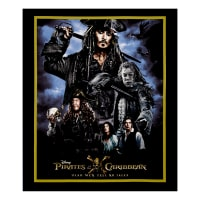 "Disney Pirates Of The Caribbean 36"" Panel Black"