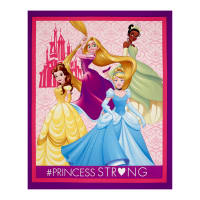 "Disney Princess #Princess Strong Dream Big Princess 36"" Panel Purple"