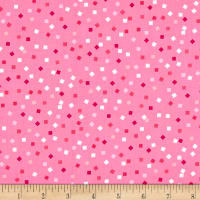 Kaufman Girl Friends Confetti Hot Pink