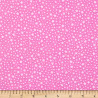 Kaufman Happy Little Unicorns Stars Pink