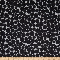 Robert Kaufman Psychedelia Leaves, Circles, Dots Taupe/Onyx