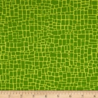 Robert Kaufman Dinoroar Fiesta Stripes, Blocks Grass