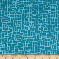 Robert Kaufman Dinoroar Vintage Stripes, Blocks Teal