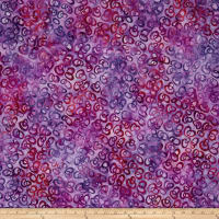 Kaufman Retro Metro 2 Antique Flowers Ovals Purple