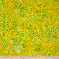 Kaufman Retro Metro 2 Rose Damask Ovals Lime