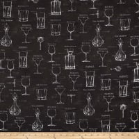 Kaufman Cheers Adventure  Glasses Panel Charcoal
