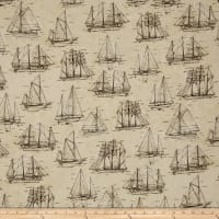 Kaufman Vintage Blueprints Digital Platinum Dots, Parchment Sailboat
