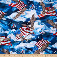 Kaufman Patriots Digital Dots, Americana Eagles, Flags Platinum