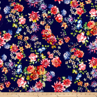 Pine Crest Fabrics Flower Garden on Olympus Athletic Double Knit Multi