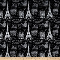 Pine Crest Fabrics Vive la France  on Olympus Athletic Double Knit Black/White