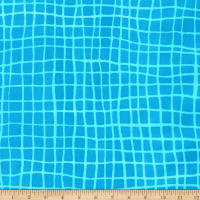 Kaufman Mark To Make Grid Turquoise