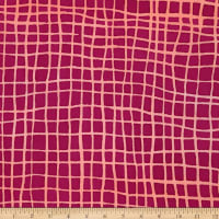 Kaufman Mark To Make Grid Raspberry Batik