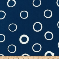 Kaufman Mark To Make Circles Indigo