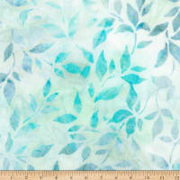 Kaufman Anemone 2 Leaves Sea Glass Batik