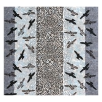 Kaufman Musings Birds Panel Charcoal