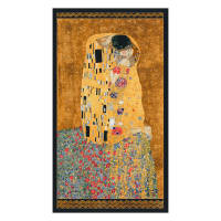 Kaufman Gustav Klimt Kiss Panel Gold Metallic