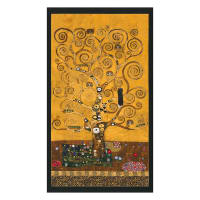 Kaufman Gustav Klimt Tree Panel Gold Metallic