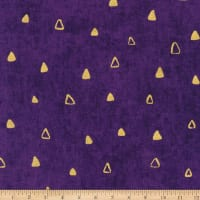 Kaufman Gustav Klimt Triangles Purple Metallic