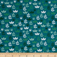 Robert Kaufman Safari Soiree Leaves Teal