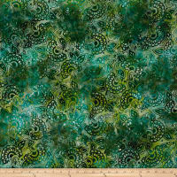 Kaufman Artisan Batiks Regal 3 Flowers Meadow