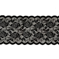 "6.5"" Ally Chantilly Stretch Lace Trim Black"