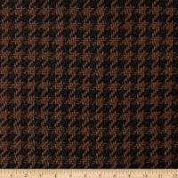 Open Houndstooth Basketweave Coating Brown/Black