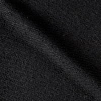 Solid Waffle Plush Wool Blend Coating Black