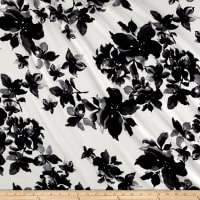 Liverpool Knit Tropical Floral Ivory/Black/Grey