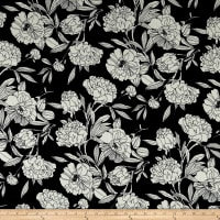 Liverpool Double Knit Retro Floral Black/White