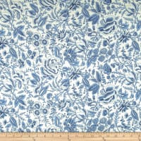Liverpool Double Knit Majestic Floral White/Periwinkle