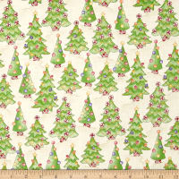 Gingerbread Christmas Decorated Tree Lot Soft Tan