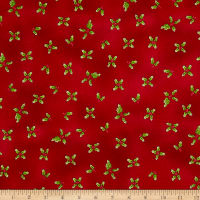 Gingerbread Christmas Holly Red