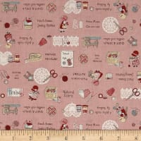 Lecien Little Heroines Sewing Notions Pink