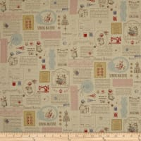 Lecien Little Heroines Sewing Patch Tan