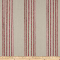 Stof Fabrics Denmark Shabby Chic Linen Blend Spreadout Stripe Red