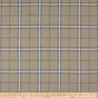 Stof Shabby Chic Linen Blend Large Plaid Blue