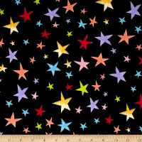 Loralie Designs Vintage Holiday Stars Black