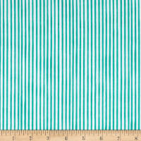 Loralie Designs Vintage Holiday Lazy Stripe Turquoise