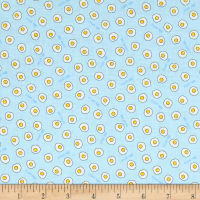 Lecien Minny Muu Fried Eggs Baby Blue