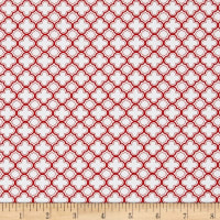 QT Fabrics Sorbet Essentials Geo Red