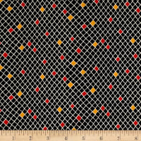 QT Fabrics Harrison Park Diamond Geo Black