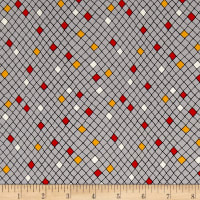 QT Fabrics Harrison Park Diamond Geo Gray
