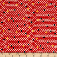 QT Fabrics Harrison Park Diamond Geo Red