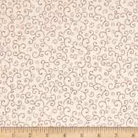 QT Fabrics Harrison Park Scroll Beige/Red