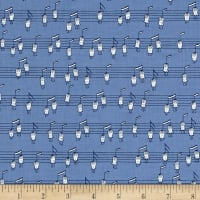 Ink & Arrow Melodie Musical Notes (Horizontal) Wedgewood