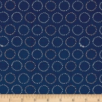 Ink & Arrow Melodie Circle Geometric Navy